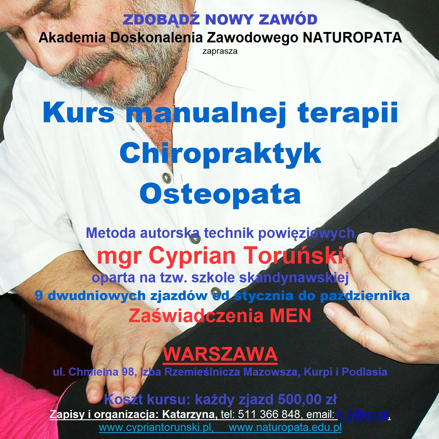Osteopata – kurs terapii manualnej